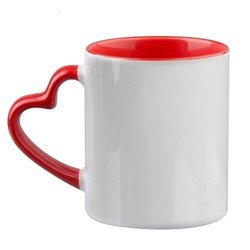 Heart Shaped Handle Ceramic Coffee Mug