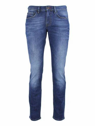 Men Slim Fit Stretchable Denim Jeans, Waist Size: 30 And 34