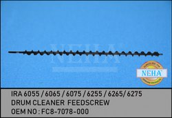 IRA 6055 / 6065 / 6075 / 6255 / 6265/ 6275  Drum Cleaner  Feedscrew Oem No : Fc8-7078-000