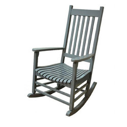 Jangid House Grey Wooden Rocking Chair