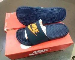 Embossed Blue Nike Flip Flop, Size: 7-10