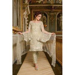 Fortune Enterprise Party Wear Ladies Unstitched Designer Embroidered Salwar Suit
