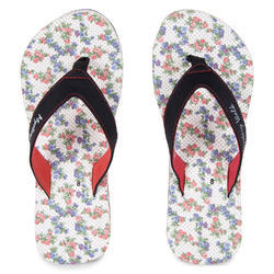 Women Mystery Walk Candy White-Red Slippers, Size: 5-9