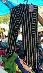 Printed Black Ladies Plazo, Size: Free Size