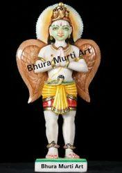 White Marble Lord Garuda Statue