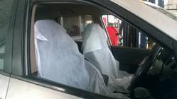 Disposable Non Woven Fabric White Seat Car Cover