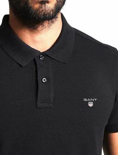 f3913ed614c3 Plain Half Sleeves Gant Mens Collar Neck Tshirt At Res 290, Rs 290 ...