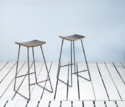 Industrial Trinity Cafe & Bar Stool With Curve Seat