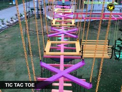 Tic Tac Toe Fun Play activity For Kids Material: Iron, Steel & Wood (Rope Course Element)