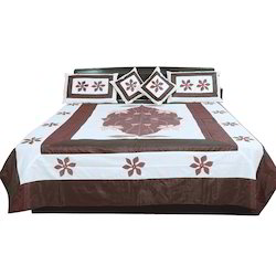Ethnic Design 5Pc Silk Double Bedcover 314