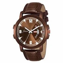 Jainx Brown Dial Day and Date Function Analog Watch for Men & Boys JM340