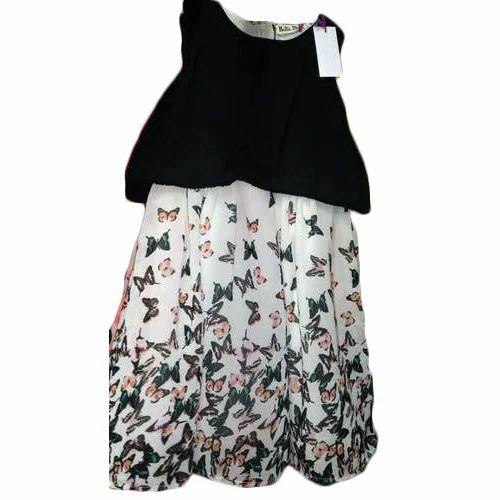 efa412d47a49 Regular Wear Plain Girls Midi Frock