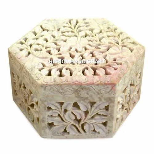 3x3x2 Marble Jewelry Storage Beautiful Box Paua Shell Precious Inlay Floral Art Gift for Girls