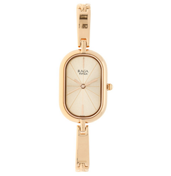 Rose Gold Dial Stainless Steel Strap Watch 2577wm01