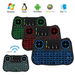 Speed MT08 Backlit Mini Wireless Keyboard With Touchpad Mouse Combo and Multimedia Keys