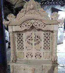 天然七木白色木制寺庙,2.5英尺,尺寸:2.5英尺宽4英尺高