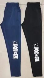 Black And Blue Nike Dri-Fit Lycra Sports Lower And Track Suite