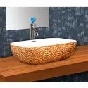 Sparcle-81 Wooden Table Top Wash Basin