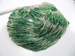 Moonstone AB Coated Green Shaded Beads