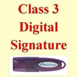 Electronic Class 3 Digital Signature Services