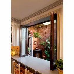 Teak Wood Modern Decor Wooden Window, Size/Dimension: 3.5x6.5 Feet, Rectangular