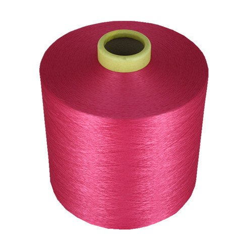 Pink Super Bright Dope Polyester Dyed Yarn, for Textile Industry