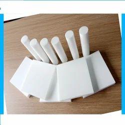 White 12 To 150 Mm Teflon Rod, Round