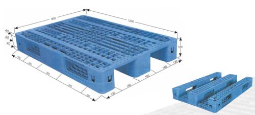 Blue Rackable Plastic Pallets Dimension Size 1200x1000x160mm