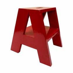 Red Wooden Alphabet Kids Chair