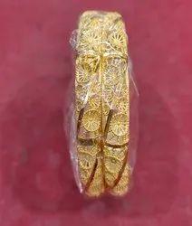 Golden Women 1 Gm 24 Ct Gold Plated Bangles