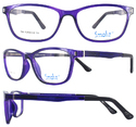 Smoke Cool Fascinating Colorful Unisex Tr90 Spectacle Frames-1204