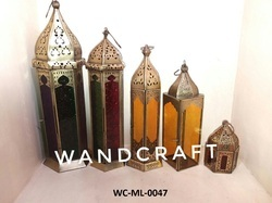 Wandcraft Exports Moroccan Decorative Fancy Star Iron Hanging Outdoor Candle Lantern