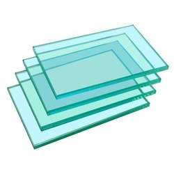 Transparent Toughened Safety Glass, Shape: Flat
