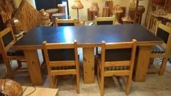 Dining Table With 8 Chairs Of Pinewood