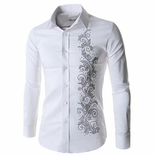 5e3c146536c8 Cotton White Mens Designer Shirt, ORRO Garments | ID: 15671215712