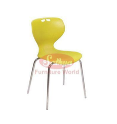 Yellow Plastic Chair, for Outdoor
