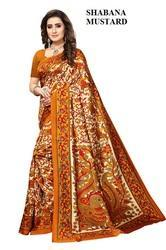 Mysore Art Silk Printed Saree, Length: 6.3 m