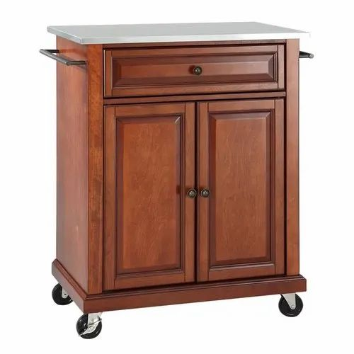 Wooden Brown Hedon Kitchen Cart With
