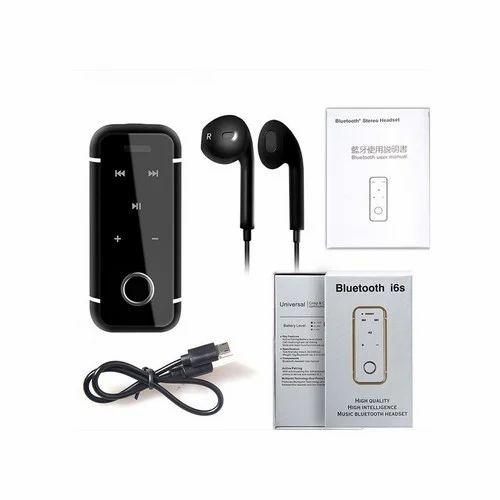 4d04a0d6a2c Black i6s Bluetooth Headset at Rs 400 /piece   Bluetooth Headset ...