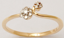 Daily Wear Small Diamond Gold Ring