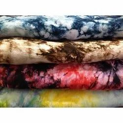 Unisex Printed Tie Dye Rayon Fabric, For Clothing