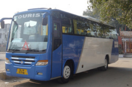 Semi Volvo Buses Rental India, Volvo Bus Services - Tricabs
