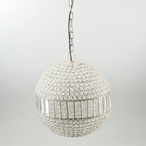 White Iron Beads Pendent Light, Size: 30x30x33 Cm