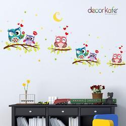 Decor Kafe Tree Owls Wall Decals For