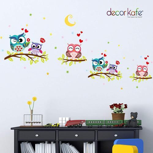 Decor Kafe Tree Owls Wall Decals For Kids Rooms Nursery Baby Boys Stickers