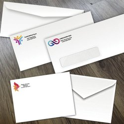 Printed White Paper Confidential Envelope