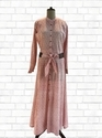 Printed Long Kurti With Leather Belt