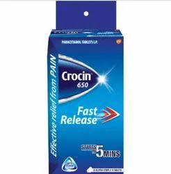 Crocin 650mg Tablet, Packaging Type: Packet