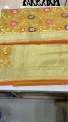 Mustard Silk Weaving Sarees, 6.3 M (with Blouse Piece)