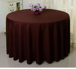 Sybaritic Linen Cotton Banquet Round Table Cover, Size: 60-80 Cm